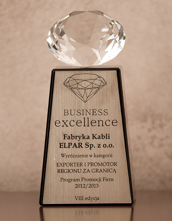 BUSINESS EXCELLENCE 2012/2013 R.